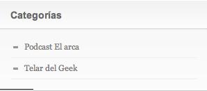 Imagen de la barra de categorías