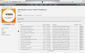 Feed de iVoox en iTunes
