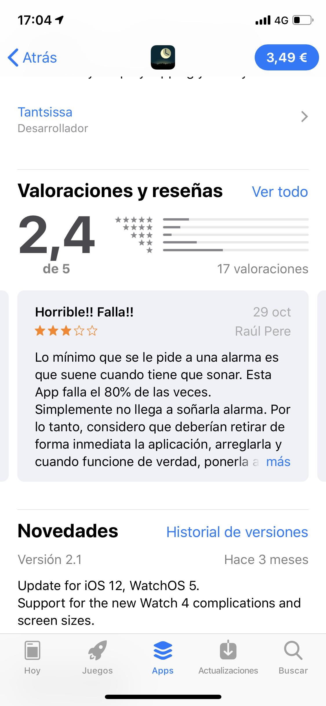 Descripción de la App AutoSleep