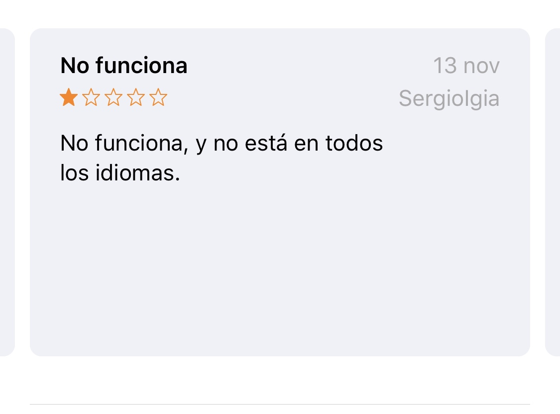 Comentario de la App AutoSleep en el App Store