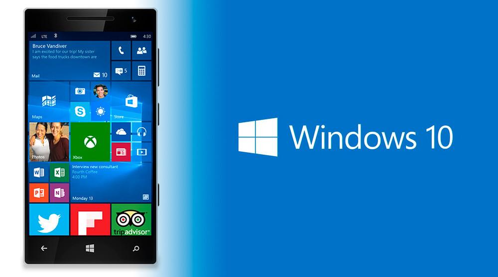 Publicidad de Windows diez