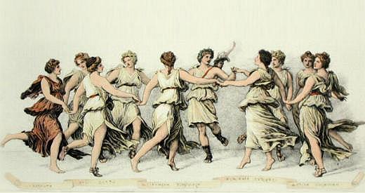 Reunión de las musas griegas
