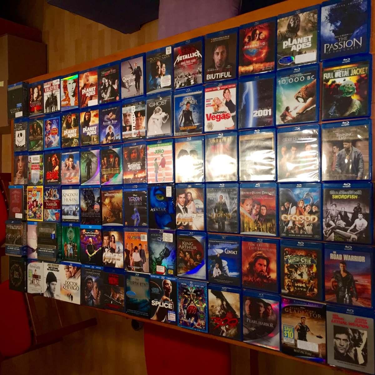Colección BluRay en estantería