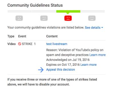 Imagen de un canal de YouTube